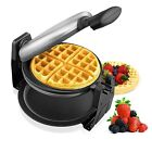 Aicok Waffle Maker, Stainless Steel 180 Degree Fast Easy Flipping, Automatic Dou