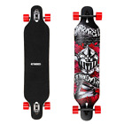 ENKEEO 41 Inch Drop Through Longboard Skateboard Complete for Carving Downhill C