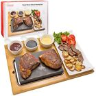 Cooking Stone- Lava Hot Steak Stone Plate and Cold Lava Rock Hibachi Grilling St