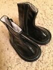 Wee Squeak Black Boots Patent With Squeaker Toddler Sz 3 EUC