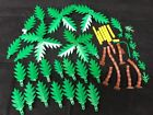Vintage Lot Lego Pirate Green Palm Trees Brown Trunks Assorted sizes Large Lot