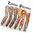 Temporary Tattoo Arm Sleeve Designs Tiger Crown Heart Skull Tribal 6 Pieces Set