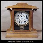 Antique E Ingraham Oak Mantle Kitchen Gingerbread Clock Kitchenette