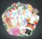 RARE FITZ & FLOYD NUTCRACKER SWEETS COOKIES FOR SANTA PLATE / WALL HANGING PLATE