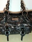 NEW LIFESTYLE by SHARIF Metallic 1927 Patent Leather Floral Purse Shoulder Bag