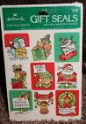 NEW christmas HALLMARK vintage 1980 GIFT SEALS stickers 4 SHEETS