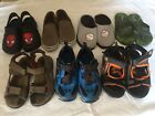 Six Pair Of Boys Shoes Size 12 And One Pair Of Sketchers Size 1 Running Shoes