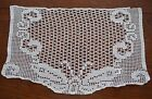 VINTAGE HAND CROCHET ANTIMACASSAR CHAIR SOFA PROTECTOR BUTTERFLY DESIGN COTTON
