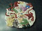 Fitz And Floyd Essentials Holiday Elf Plate Santa's Bag W/Elves