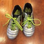 PUMA PROCAT SOCCER CLEATS shoes Youth Size 1 SILVER GREEN Kids