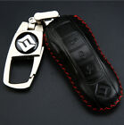 For Porsche Cayenne Panamera Leather Remote Key Fob Case Holder Cover Case