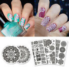 Floral Art Set Mandala Series Round Rectangle Stamping Template Manicure Nail Ar