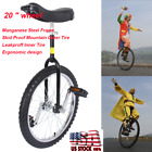 20 Wheel Unicycle Cycling Indoor Outdoor Sports Fitness Exercise Silver