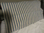 OLD EARLY VINTAGE COTTON TICKING PILLOW COVER...HOMESPUN