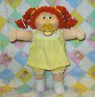 Vintage Cabbage Patch Kids Pacifier Girl Red Hair Green Eyes Dress Clothes Shoes