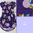 LULAROE DISNEY KIDS SIZE 2 MAE PURPLE W DONALD DUCK BRAND NEW