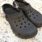 Mens CROCS Velcro Strap CAYMAN Black Classic CLOGS SANDALS SIZE M 13 EUC