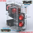 DIY Personalized Clear Acrylic ATX Standard PC Gaming Computer Case Assemble Set