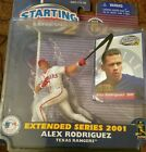 Starting Lineup 2 EXTENDED SERIES 2001: Alex Rodriguez Rangers nip