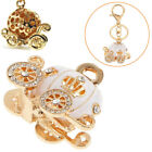 Pumpkin Key Chain Carriage Ring Charm Crystal For Christams New Year Gift US HOT