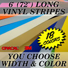 72 Vinyl Racing Stripe Pinstripe Decals Stickers 20 COLORS Rally Stripes