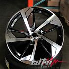 19 in Audi RS Style Wheels Rims Black Machined Fits A4 A5 A6 S4