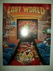 1988 Bally ESCAPE FROM THE LOST WORLD Pinball Flyer