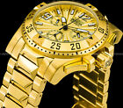 Invicta 50mm Men's Excursion Swiss Z60 Chronograph 18K Gold Plated 200MT Watch !