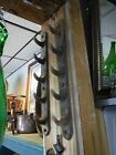 Antique Cast Iron Hooks Wall Mount Store Display From Old Hardware Store 16.5