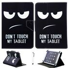 """US For 7""""-10.1"""" Tablets Don't Touch My Tablet Universal Leather Stand Case Cover"""