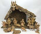 1983 Fontanini Nativity Manger Scene Stable Set Creche Depose Italy Plays Music