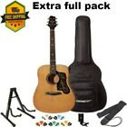 Acoustic Full size Guitar Pack Rich sound with Gig Bag Stand Strap Tuner On SALE