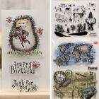 DIY Crafts Clear Sheet Scrapbooking Silicone Rubber Transparent Stamps Deer