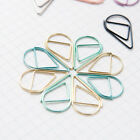 100 Cute Paper Clips Smooth Stell Wire Drop Shaped clip Memo Bookmarks Clip