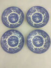 Churchill English Scene Blue Castle Fishing England 4 Saucers