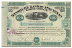 Missouri Kansas and Texas Railway Company Stock Certificate