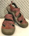 Keen Leather Sandal Water Shoes Covered Toe Red Leather Clip Closure Size 95