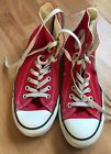 Converse Chuck Taylor All Star High Top Canvas Red Sneakers Shoes Men 7 women 9