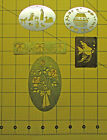 Lot of Vintage Metal Brass Stencils Holiday Nativity Floral Animals Fish