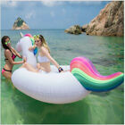 78 Inch Inflatable Unicorn Pool Water Float Raft Floatie Tube Fun Party Toy USA