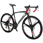 700C Road Bike 21 Speed Gears Cycling Bicycle Disc Brakes Racing 49cm Complete