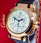 Cartier 42mm Pasha Chronograph 18k Rose Gold Watch 2863 Box/Paper W3019951