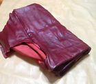 BR621 Leather Cow Hide Cowhide Upholstery Craft Fabric Deep Wine Burgundy Red 60