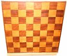 Old English Chess / Checkers Game Board Hand Made Wood Inlay Patina 16