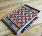 Vintage Collectible: All Wood Handmade In America Checkers Game Board