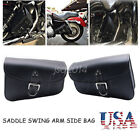 2 x Motorcycle Saddle Swing arm Side Bag for HARLEY Softail XL Sportster 1200