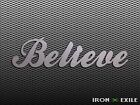 BELIEVE Metal Inspirational Word Wall Art Sign Home Decor Plasma Cut Country