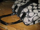 Coach Signature Stripe Tote handbag Purse H0969 F13533 BAG 15 X 15 WITH STRAPS