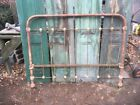 Primitive Cast Iron Bed Head Board Garden Gate Cottage Flower Bed Art