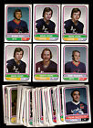 1975-76 WHA O-PEE-CHEE 64 CARD LOT, BOBBY HULL, MARK HOWE ROOKIE'S x3 + OTHER'S